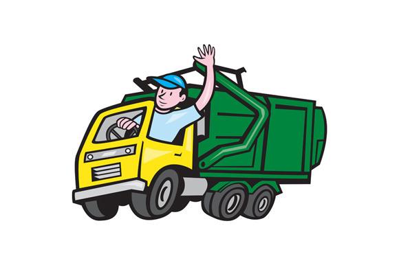 garbage truck cartoon - photo #10