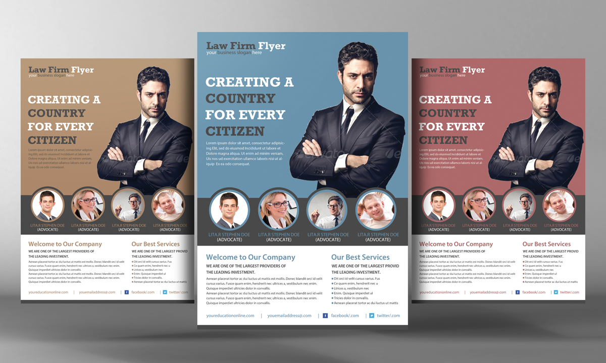 law firm partnership agreement template - law firm flyer template flyer templates on creative market