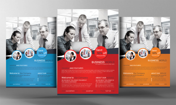 corporate business flyer template flyer templates on creative market. Black Bedroom Furniture Sets. Home Design Ideas