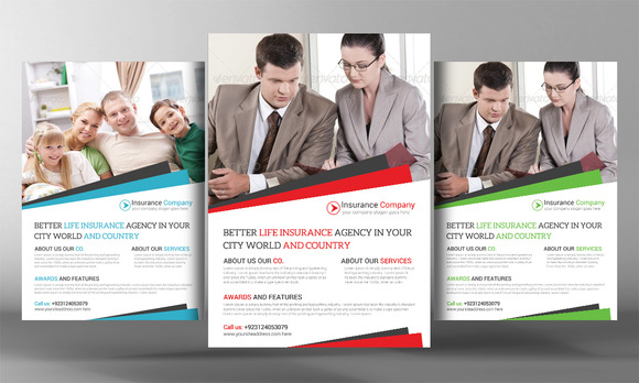 insurance agency flyer template flyer templates on. Black Bedroom Furniture Sets. Home Design Ideas