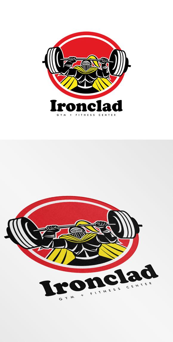 ironclad gym fitness center logo