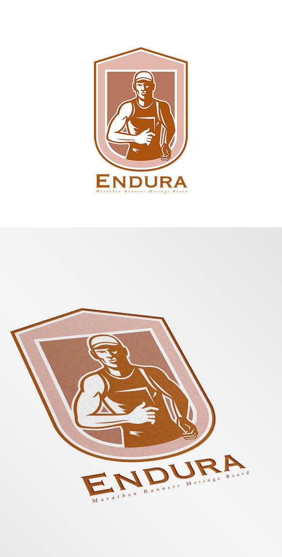 Marathon Running Logos Endura Marathon Running Logo
