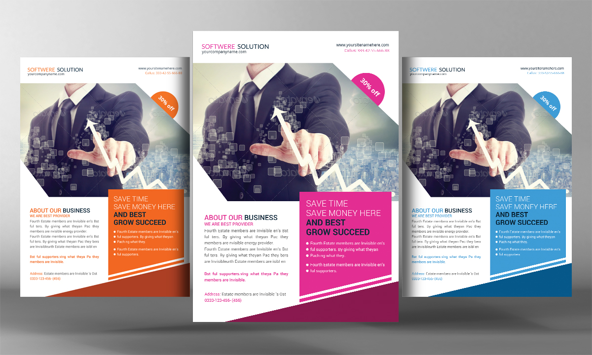 Software house flyer template flyer templates on for Software brochure template