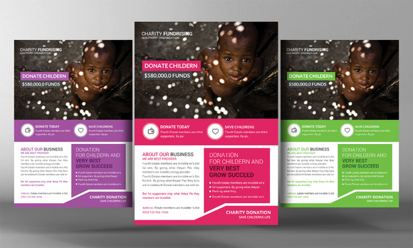 Charity Donation Flyer Template   Flyer Templates on Creative Market O1WafahU