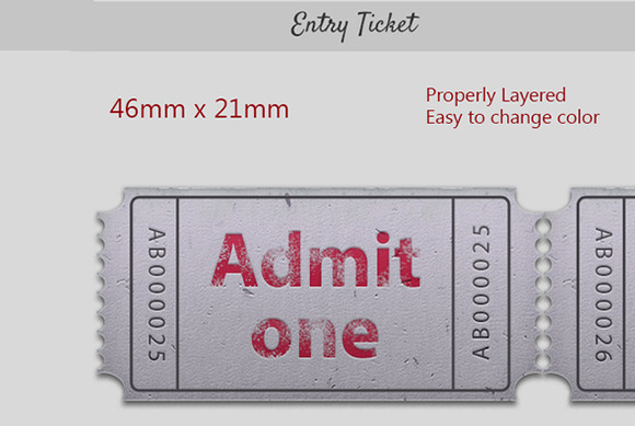 ticket template for gig admit two designtube creative. Black Bedroom Furniture Sets. Home Design Ideas