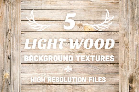 5 Light Wood Background Textures