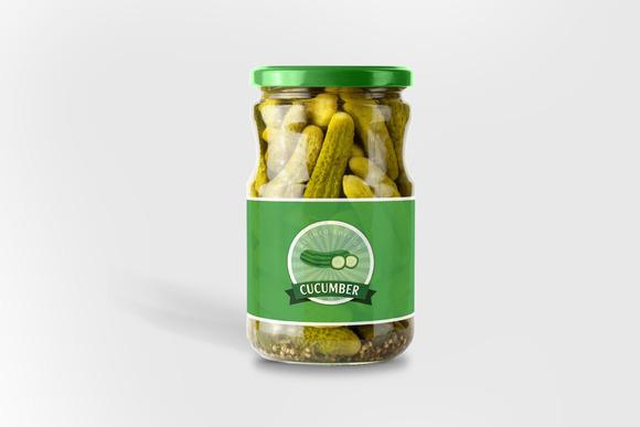 Cucumber Bottle Mock-up