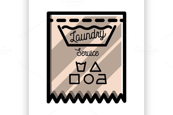 Color Vintage Laundry Emblem