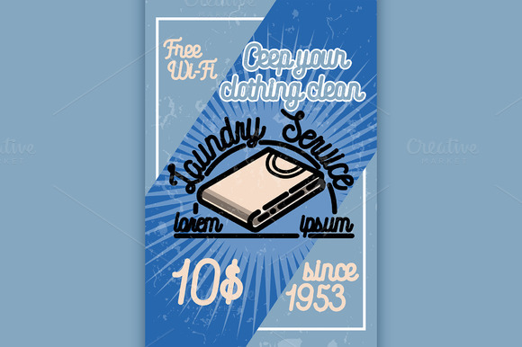 Color Vintage Laundry Poster