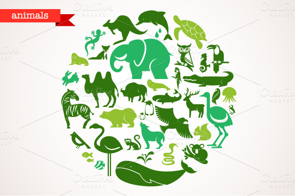 Animals Set Of 40 Icons