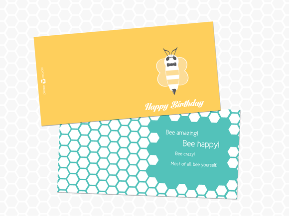 Bee Happy Birthday Card Product Mockups On Creative Market