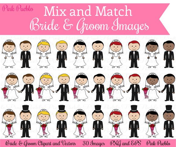 Mix Match Bride Groom Images