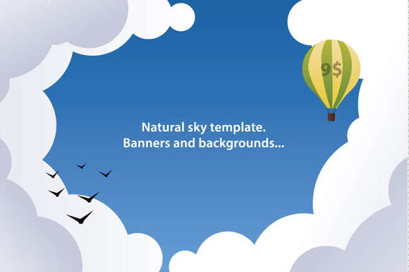 Vector Banners And Backgrounds Sky