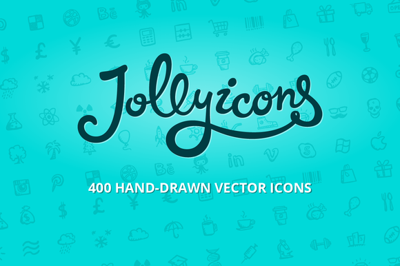 Jolly Icons 400 Hand-drawn Icons