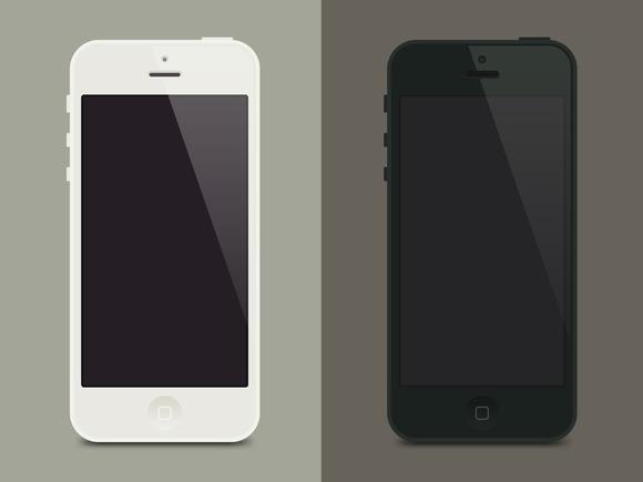 IPhone5 Flat Template