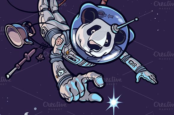 Panda The Astronaut