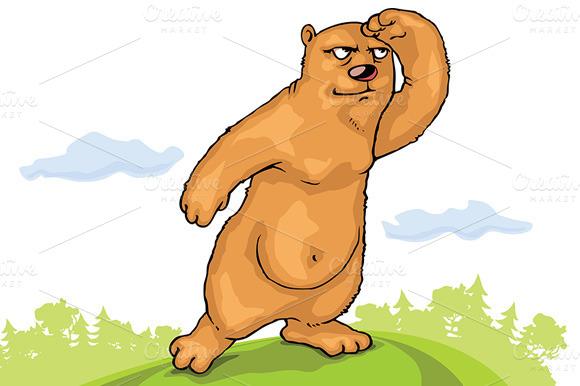 Brown Bear Is Watching