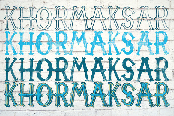 Khormaksar-Vintage Font Textures