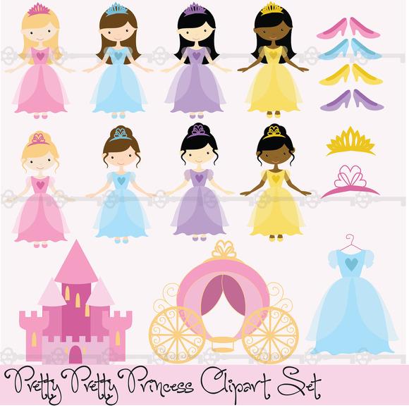 Pretty Princesses Digital Clip Art