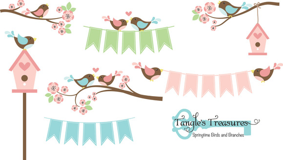 Birds And Branches Clipart