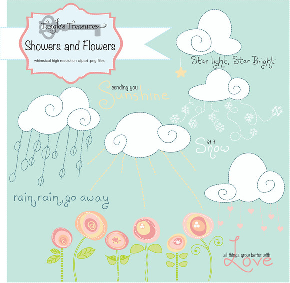 Showers And Flowers Clipart