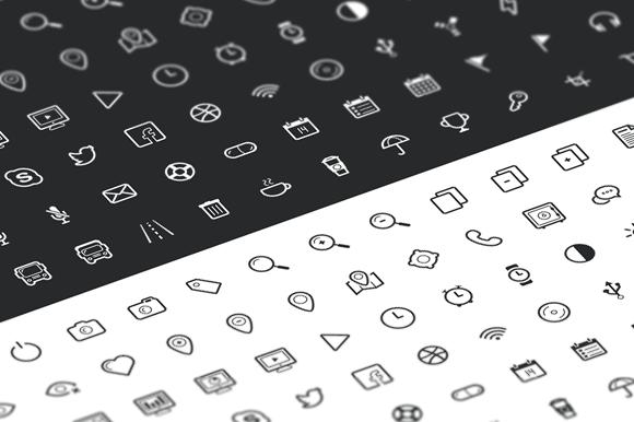 Outline Icon Set 100