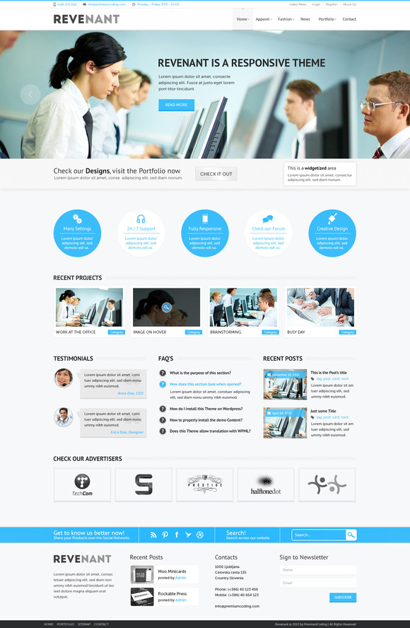 Revenant Business PSD Template
