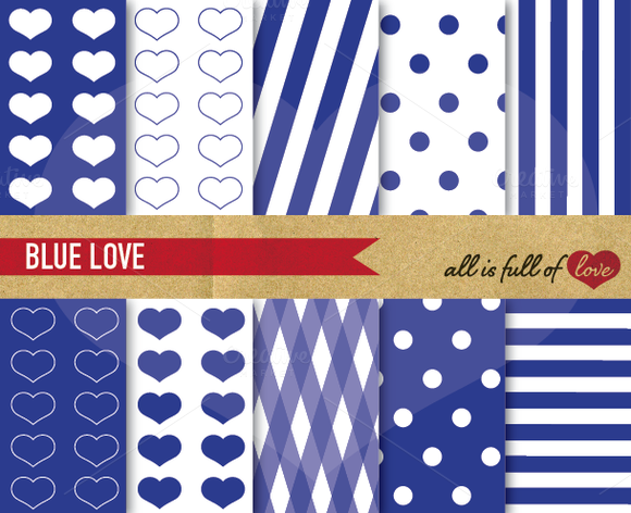 Navy Blue Digital Background Pattern