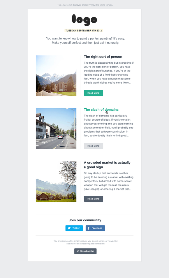 Email Newsletter ~ Website Templates  Free Download