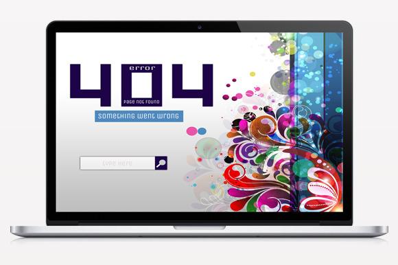 Floral Error 404 Page