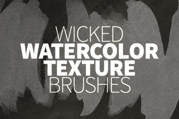 Wicked Watercolor Texture Brushes