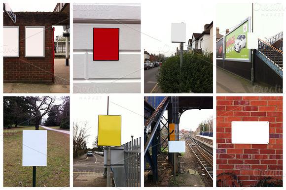 14 Blank Sign Mockup Images