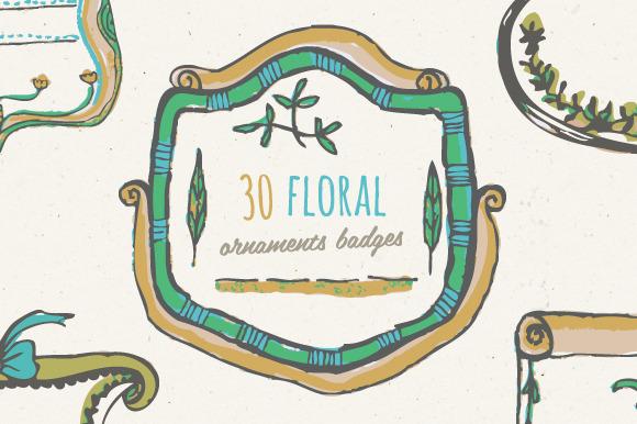 Floral Ornaments Badges