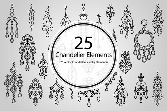 25 Chandelier Elements
