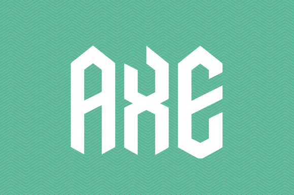 Free display font download from CreativeMarket.com: Axe. As seen on www.DesignYourOwnBlog.com