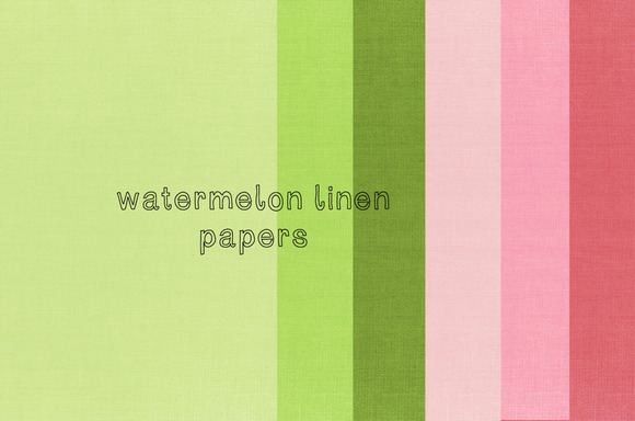 Watermelon Linen Papers