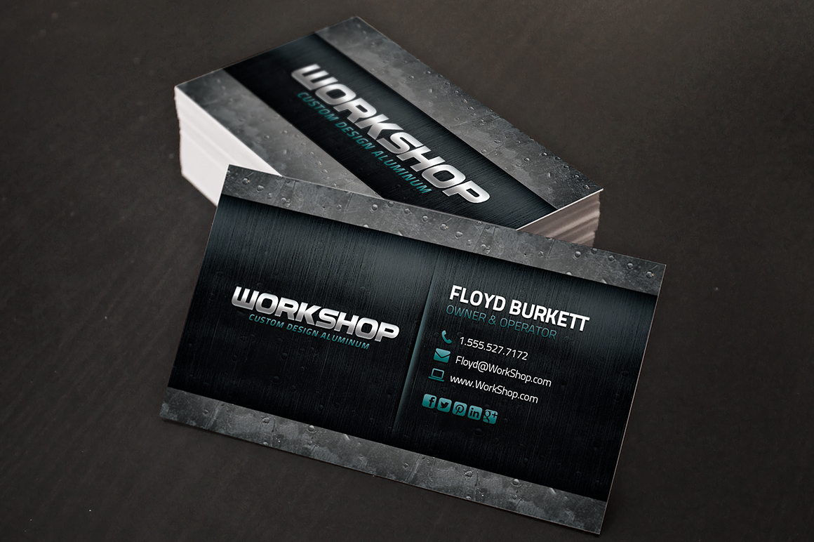 Metal Business Card Template Business Card Templates On