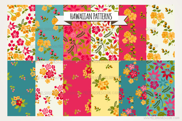 Hawaiian Flower Pattern Hawaiian Patterns Patterns