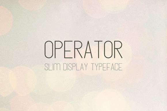 Operator Slim Display Font