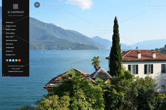 Castello WordPress Theme For Hotels