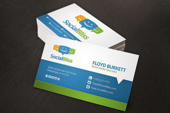 Social Media Business Card Business Card Templates on