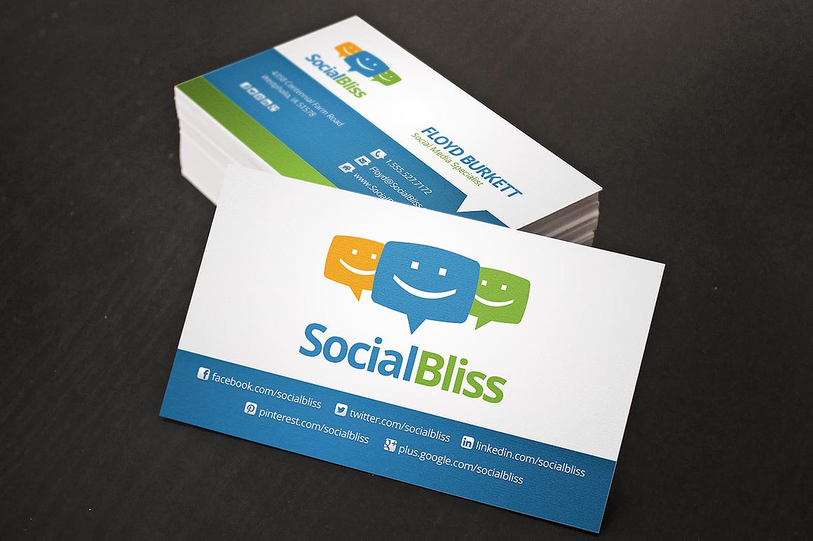 Social Media Business Card Business Card Templates on