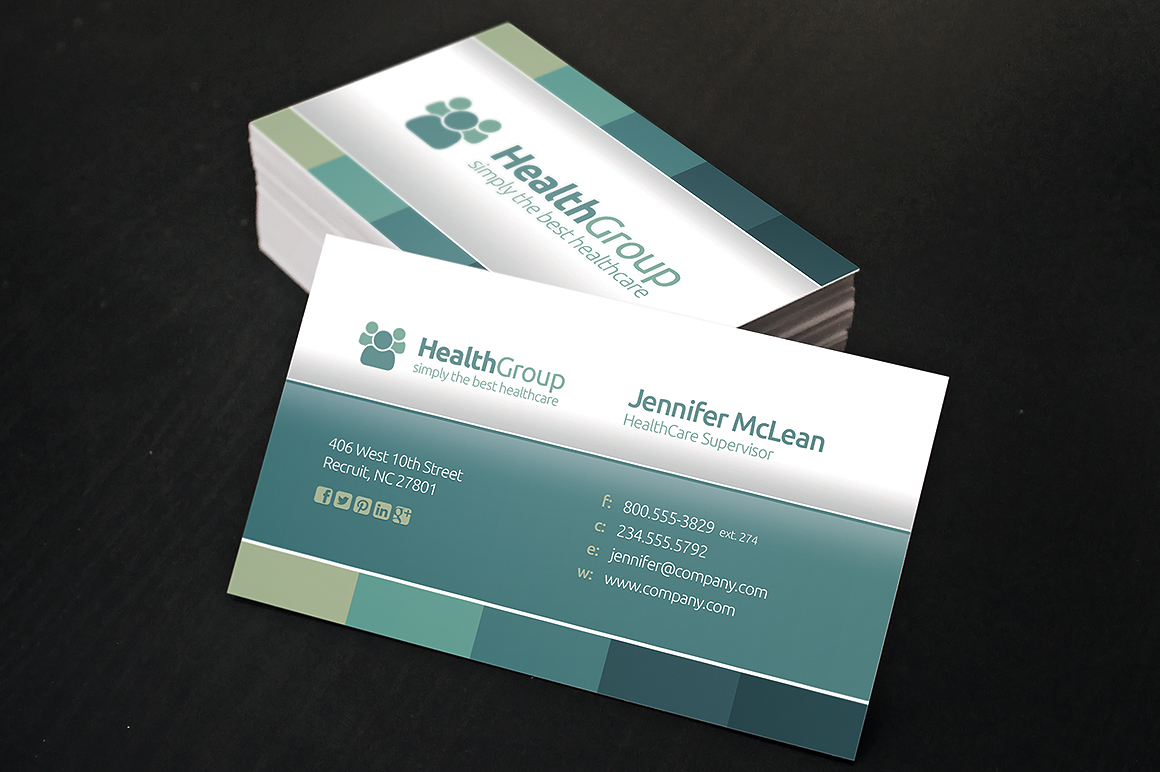 Wonderful health business card gallery business card ideas inspiring new business card design trends for healthcare providers colourmoves Gallery