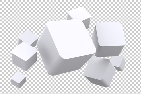 Cubes 3d render png graphics on creative market 3d design free