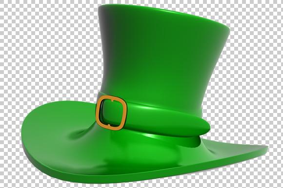 St. Patrick's Day Hat - 3D -PNG - Graphics