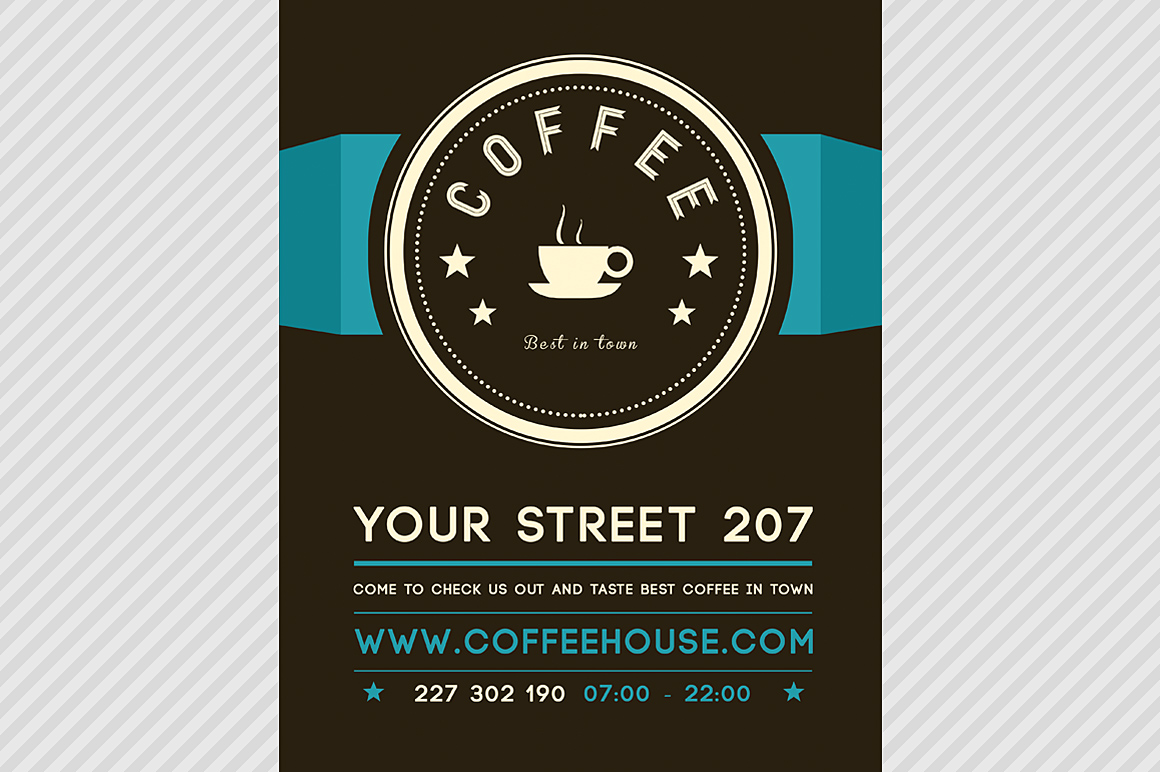 Online Print Templates | printing.com UK |New Coffee Shop Flyer