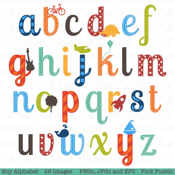 boy alphabet clipart   vectors   illustrations on creative letter clip art free letter clip art borders free