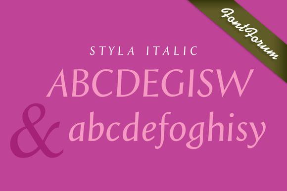 Styla Regular Italic