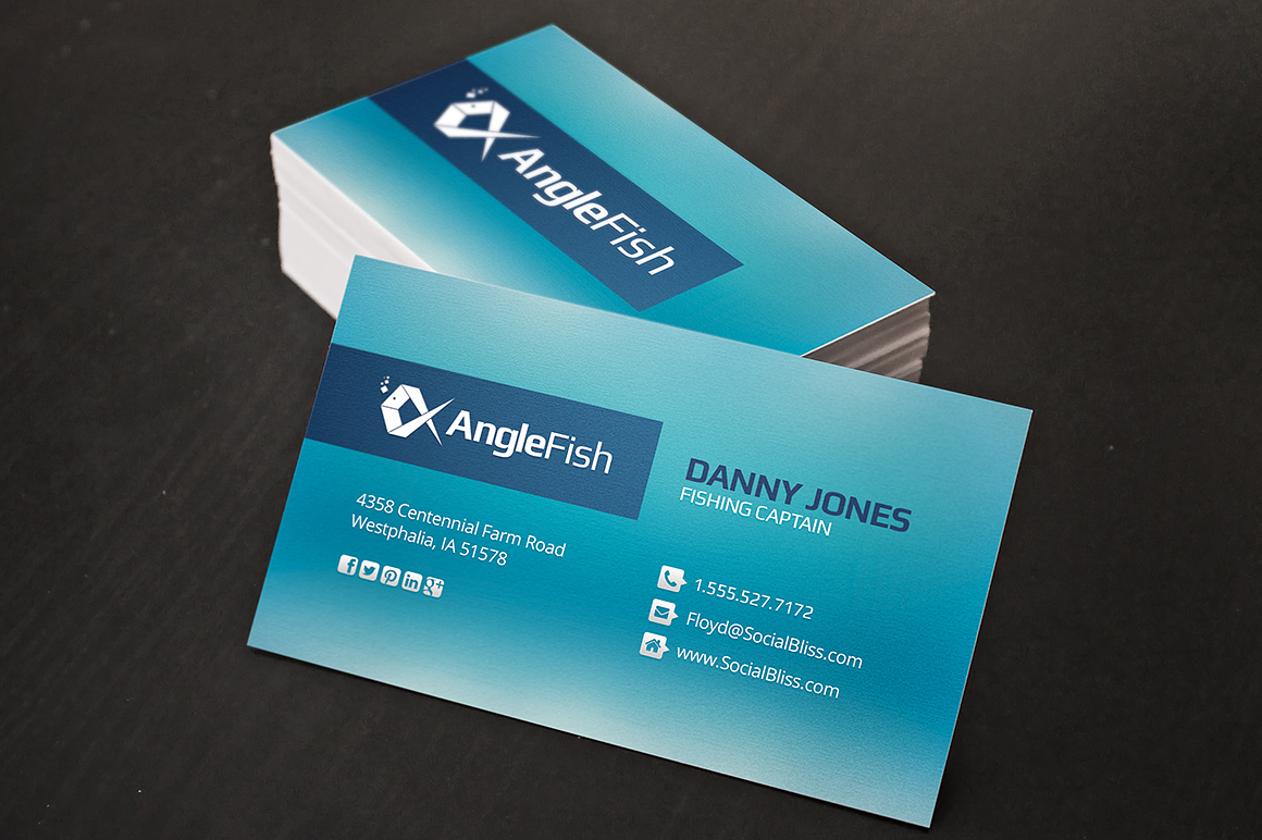 Fishing charter business cards business card templates for Fishing business cards