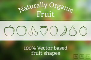 Fruit Vector shapes